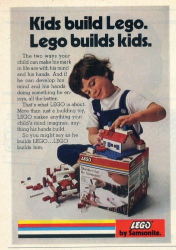 Kids build lego, lego builds kids.